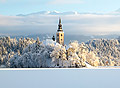 Winter wedding in Lake Bled