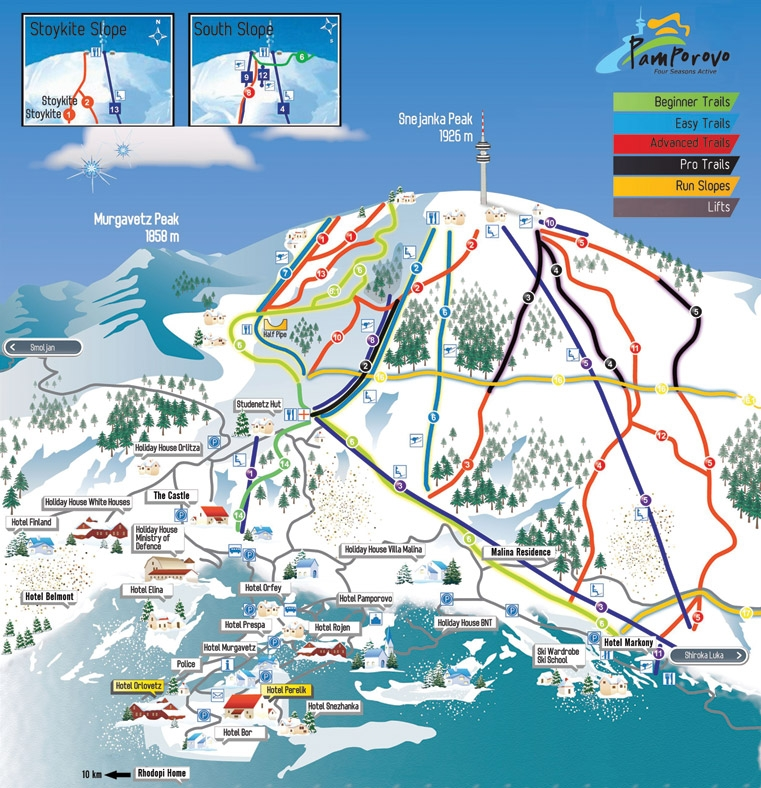 Pamporovo Bulgaria  city photos : Pamporovo Map Skiing Holidays | Snowboarding Holidays | Cheap Skiing ...